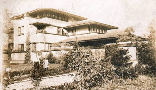 William E. Martin's house, Oak Park, Illinois, designed by Frank Lloyd Wright