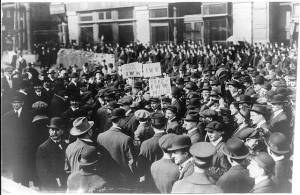 the Industrial Workers of the World demonstrating in New York City