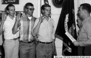 Boys Take Oath Into the Marine Corps